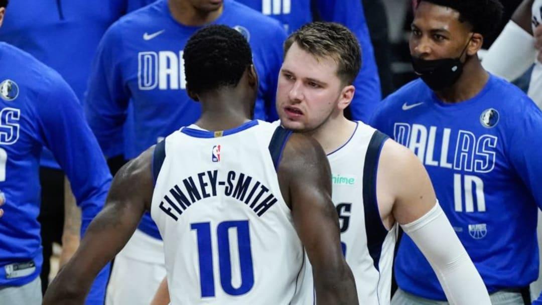 Dallas Mavericks Dorian Finney-Smith Luka Doncic Mandatory Credit: Robert Hanashiro-USA TODAY Sports