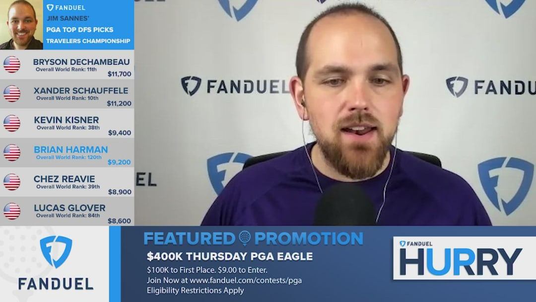 The FanDuel Hurry Up team takes a deeper look at evaluating American golfer Brian Harman's fantasy outlook and potential value ahead of this weekend's upcoming 2020 Travelers Championship PGA Tour tournament event at the TPC River Highlands Golf Course in Cromwell, Connecticut.