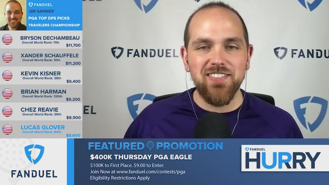 The FanDuel Hurry Up team takes a deeper look at evaluating American golfer Lucas Glover's fantasy outlook and potential value ahead of this weekend's upcoming 2020 Travelers Championship PGA Tour tournament event at the TPC River Highlands Golf Course in Cromwell, Connecticut.