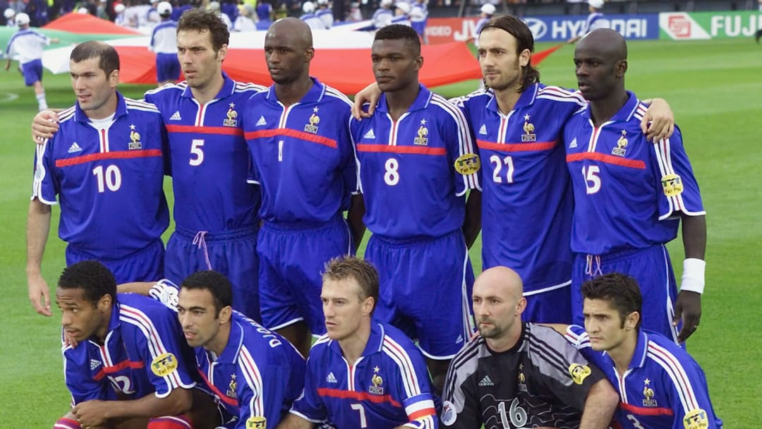 The French team poses for the official picture bef