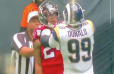 VIDEO: Devonta Freeman Gets Ejected for Fight With Aaron Donald in Rams-Falcons