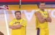 VIDEO: Gronk, James Corden and Venus Williams Appear in Halftime Show Dance With the Laker Girls
