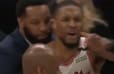 VIDEO: Damian Lillard Has NSFW Message for Refs After Missed Goaltending Call That Cost Blazers the Game