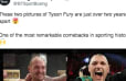 Side by Side Photo of Tyson Fury's 2-Year Transformation is Incredible