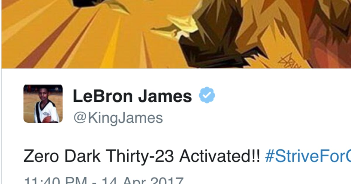 668087c69bd9 LeBron Posts Awesome Tweet to Get Cavs Fans Pumped for Playoffs