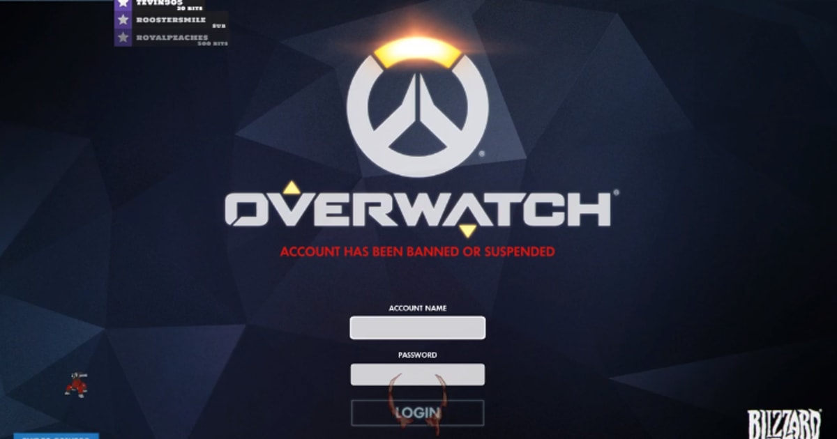 overwatch players are getting banned