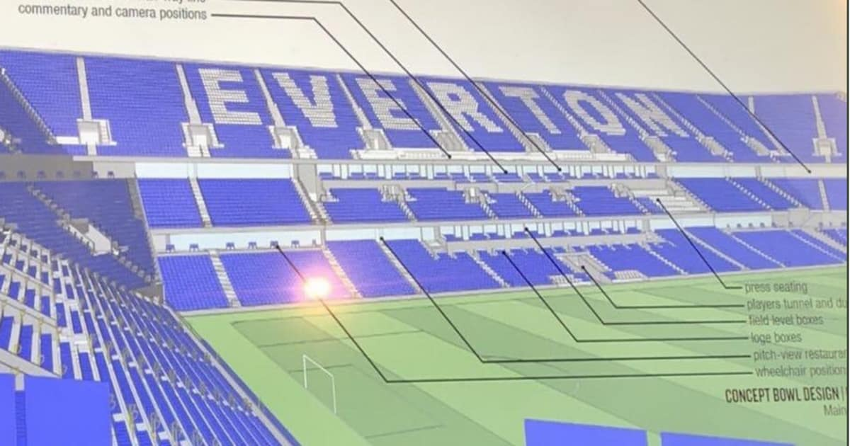 Photo Stunning Concept Images Of New Everton Stadium Revealed To Fans For First Time 90min