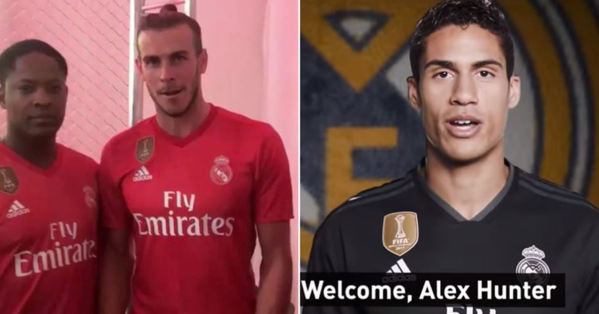 on sale c990b ec534 Real Madrid Squad Welcome Their New Signing, Alex Hunter ...