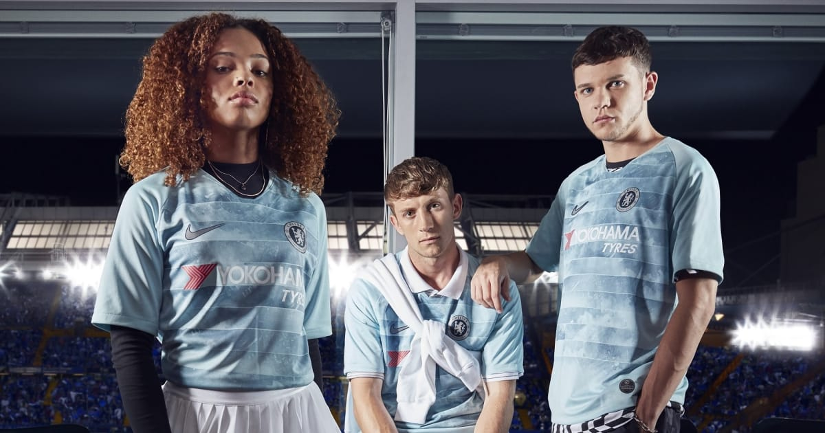 fa8168d5222 Chelsea Launch New Teal Third 2018 19 Kit Featuring Unique  NikeConnect   Technology