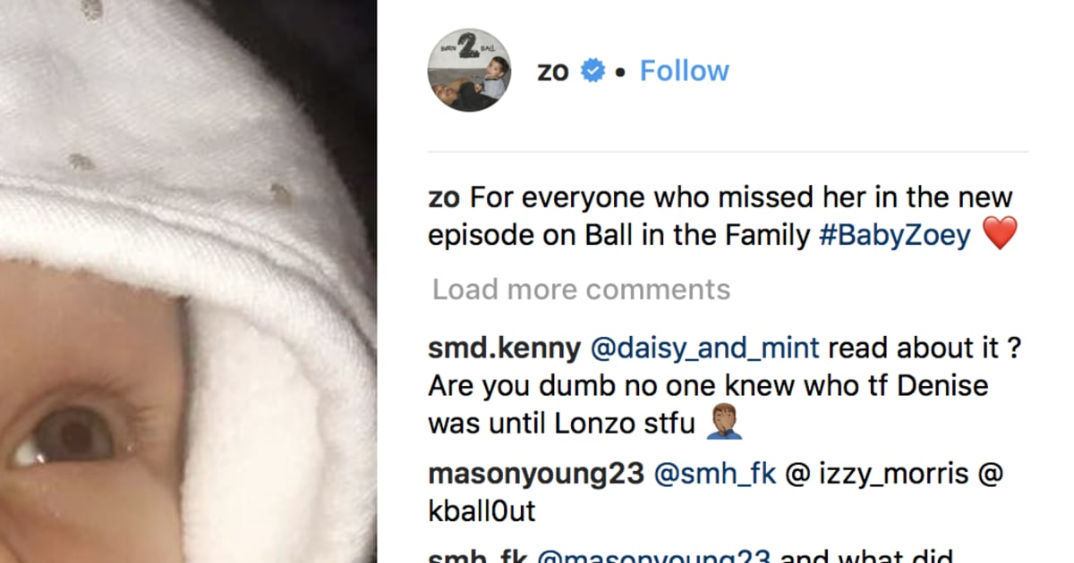 632a96fbb Lonzo Ball Drops First Photos of New Baby Daughter Zoey