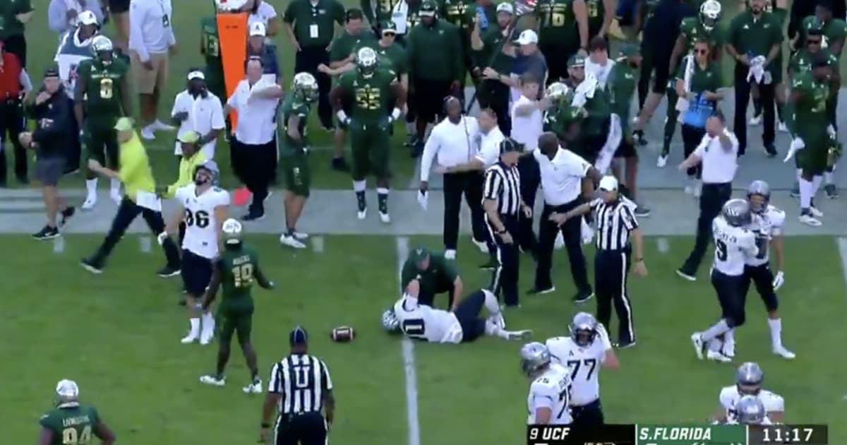 Video Ucf Quarterback Mckenzie Milton Goes Down With Gruesome Knee