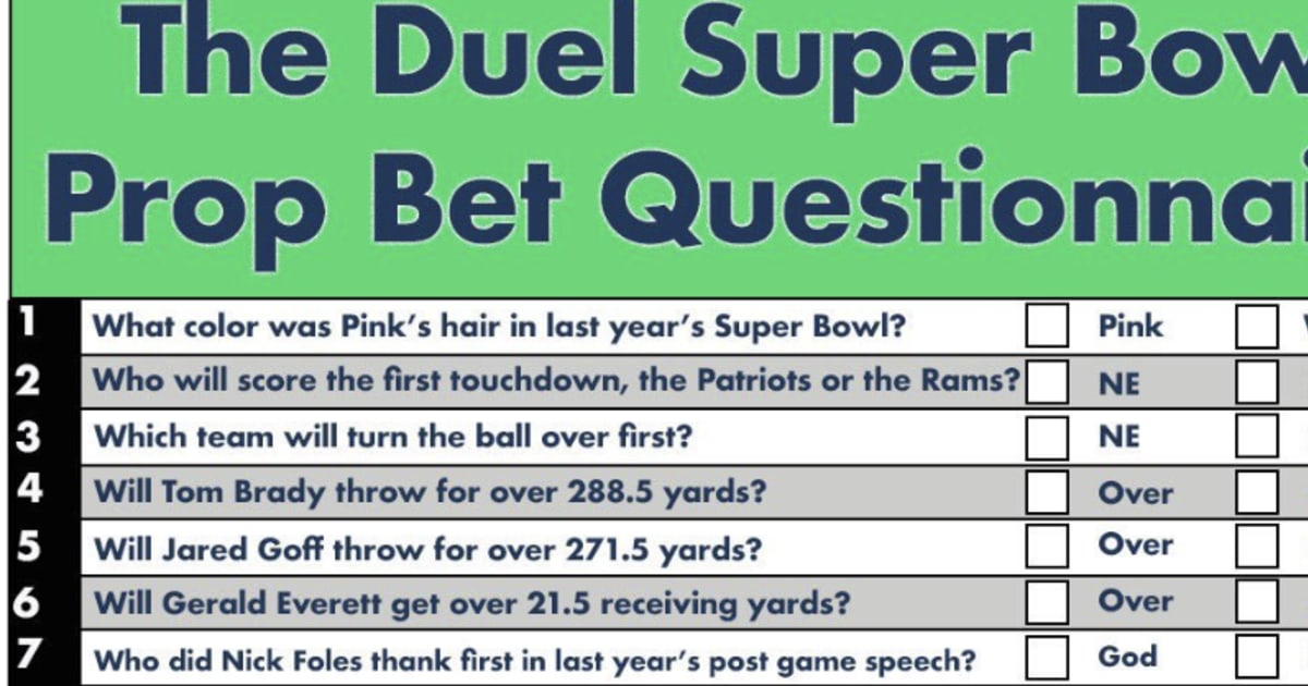 It's just a picture of Printable Prop Bets Super Bowl within total yards