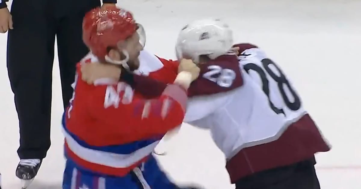 0ecab0e9bf4 VIDEO  Tom Wilson Unloads on Ian Cole After Dirty Blindside Hit on Evgeny .