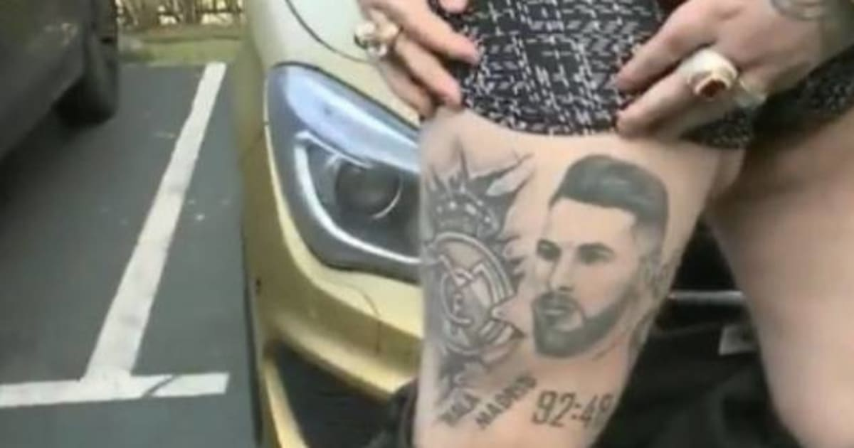 A Real Madrid Fan's Sergio Ramos Tattoo Hilariously Ends up Looking Like Lionel Messi