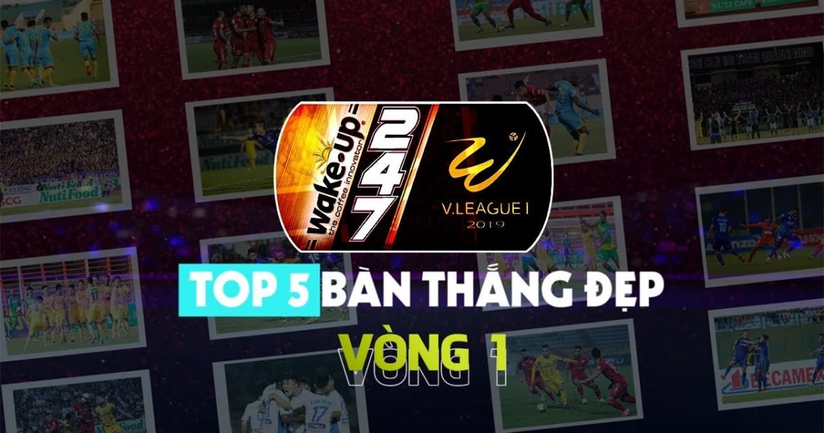 VIDEO: Top 5 bàn thắng đẹp nhất vòng 1 V-League 2019