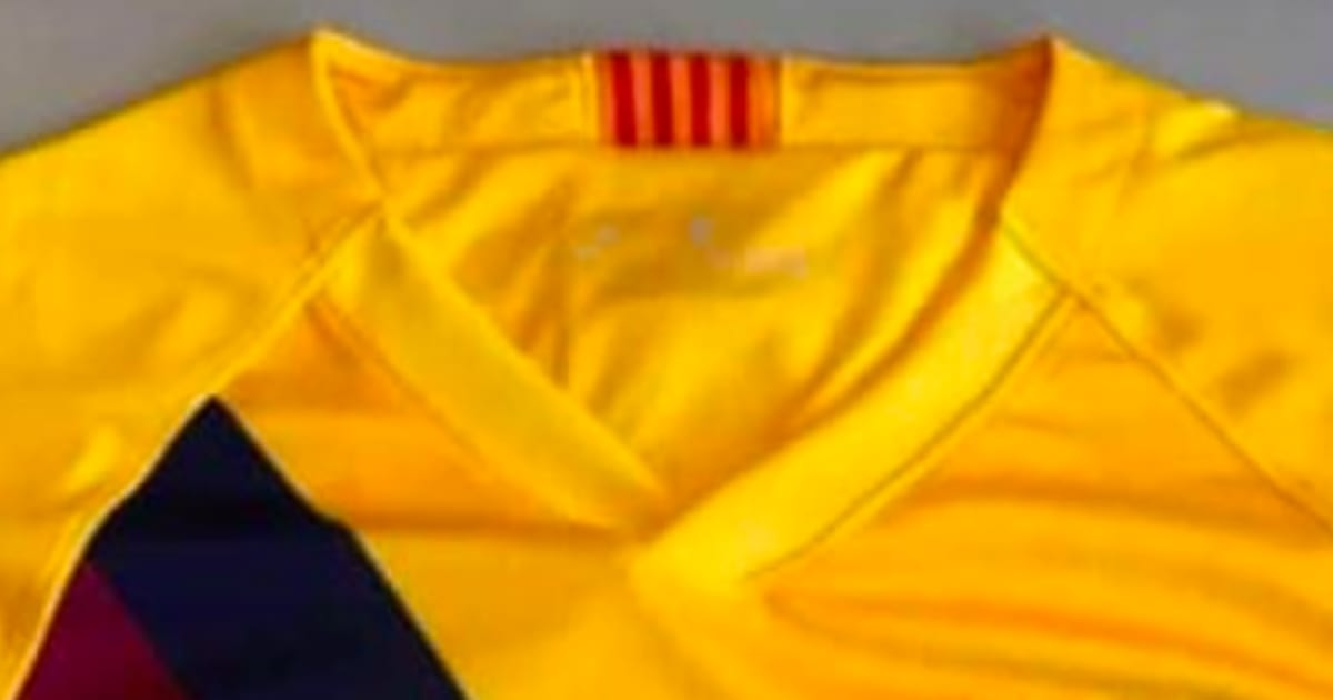 new arrival 128e4 bbd7e Barcelona Away Kit 2019/20: Images of Yellow Strip Emerge as ...