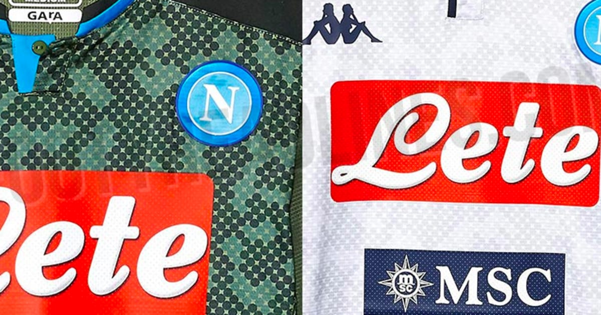 Napoli Kit Leak Images Surface Online Of 2019 20 Mesh Camouflage Away And Third Kits 90min