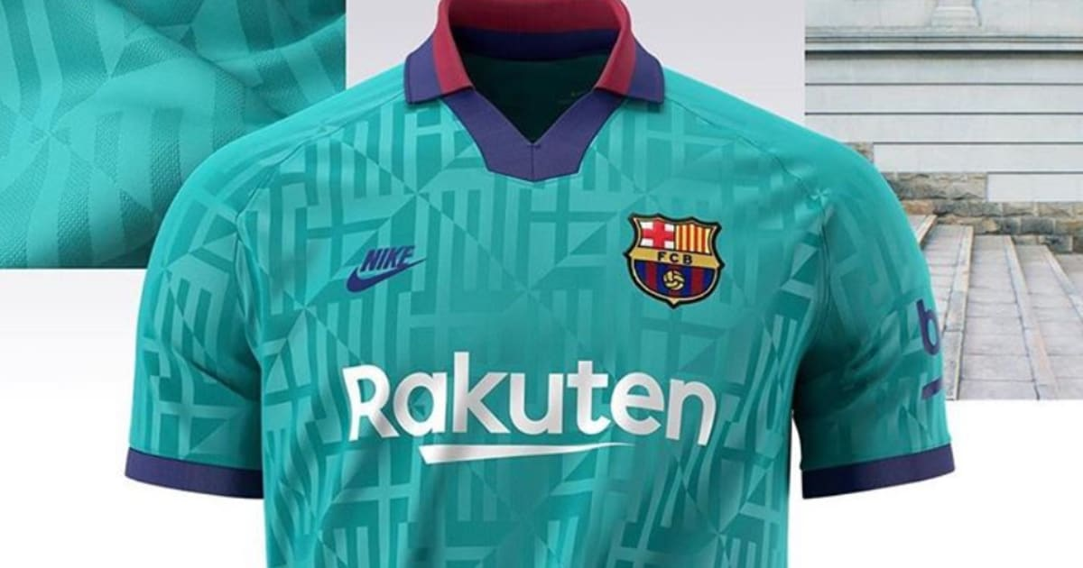 Barcelona Unveil New Third Kit Featuring Smart 1990 S Throwback Design 90min