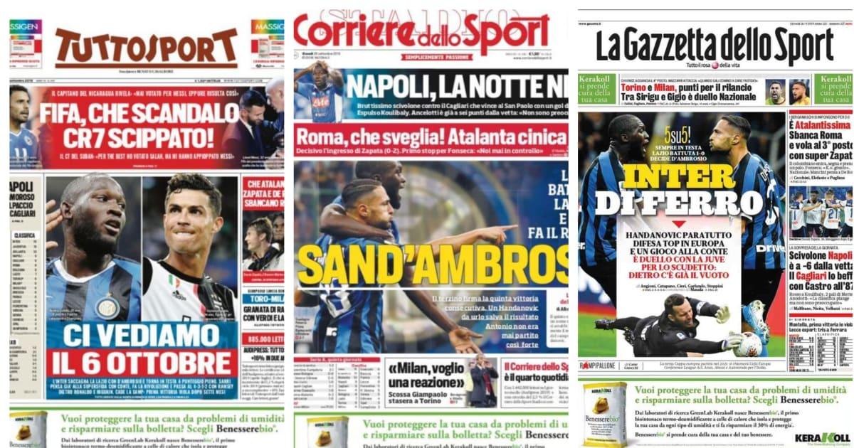 La rassegna stampa dei giornali sportivi italiani di oggi for Camera dei deputati rassegna stampa