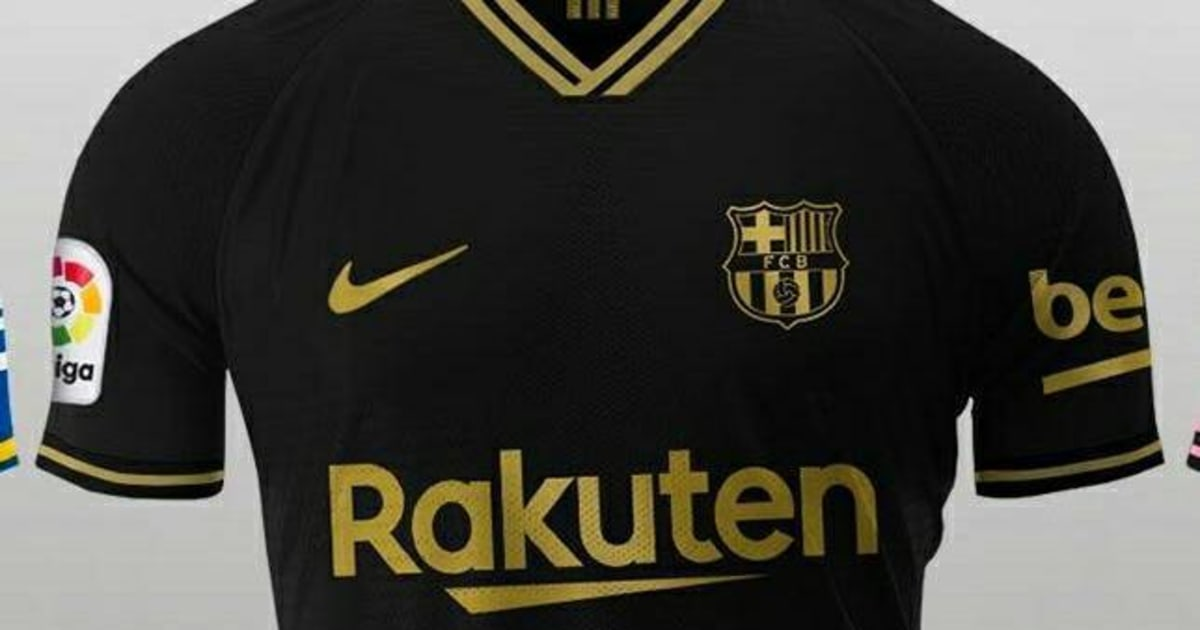 barcelona away kit 2020 21 leaked images emerge as blaugrana set to go black gold 90min barcelona away kit 2020 21 leaked