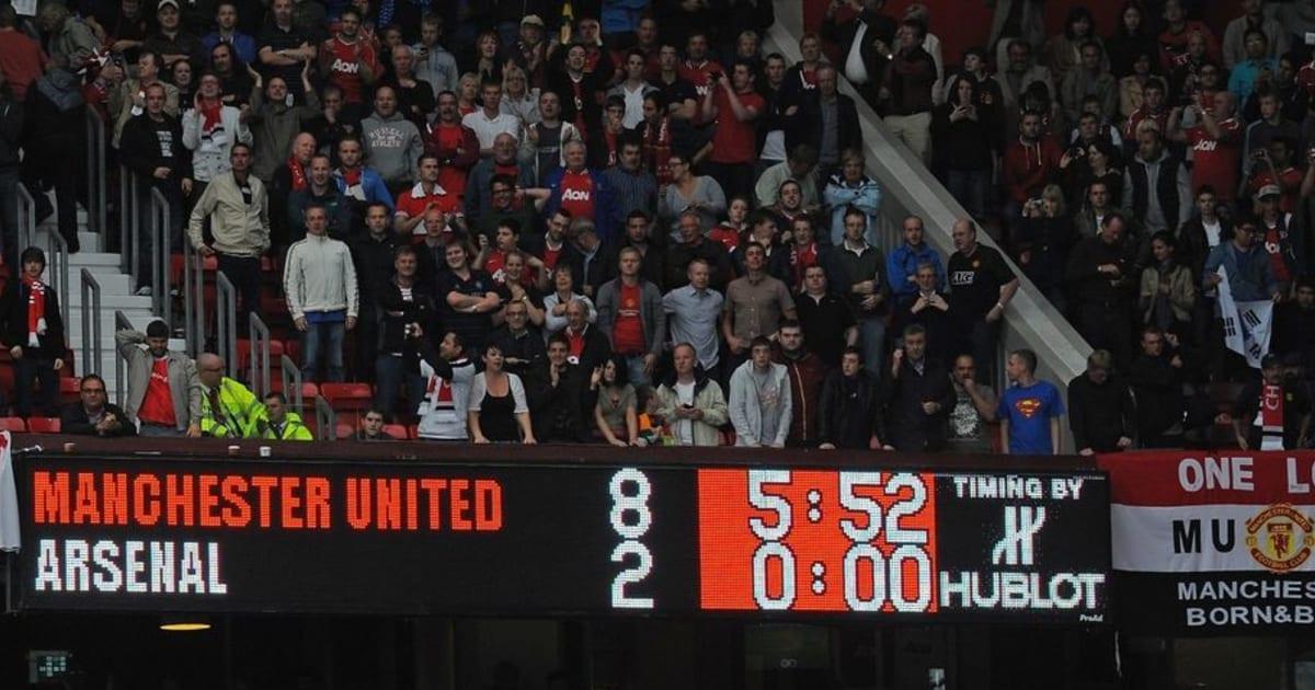Manchester United 8 2 Arsenal Remembering Arsene Wenger S Darkest Hour As Gunners Manager 90min