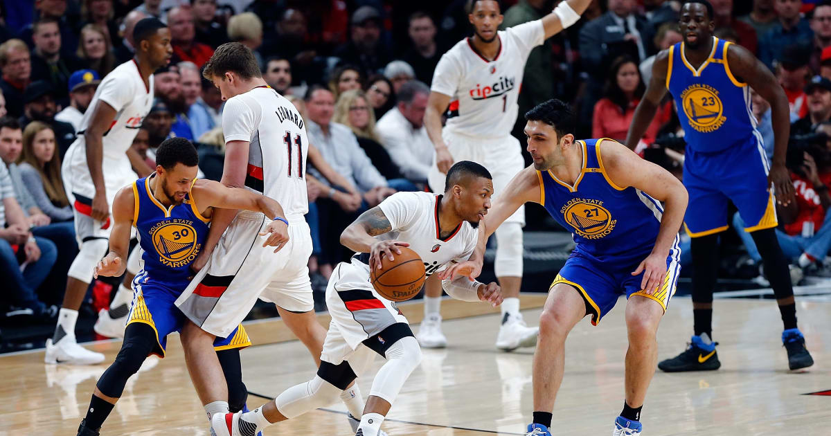 warriors vs trail blazers - photo #32
