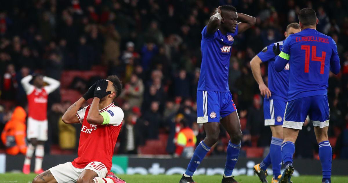 Arsenal Suffer Europa League Heartbreak as Last Gasp Olympiacos Strike Knocks Gunners Out