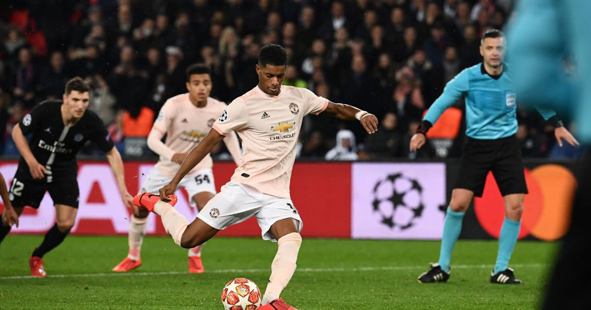 psg 1 3 manchester united report ratings reaction as rashford 39 s late penalty seals shock win. Black Bedroom Furniture Sets. Home Design Ideas