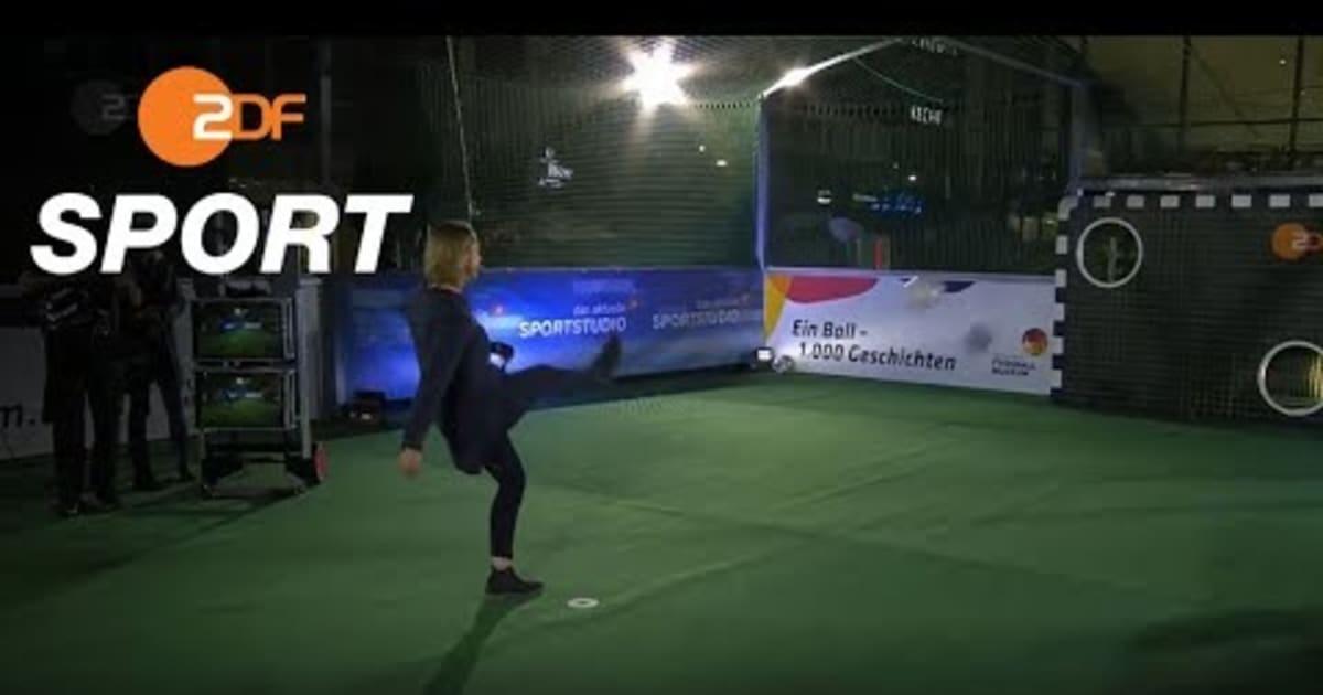 Video | Inka Grings trifft fünfmal an der Sportstudio-Torwand!
