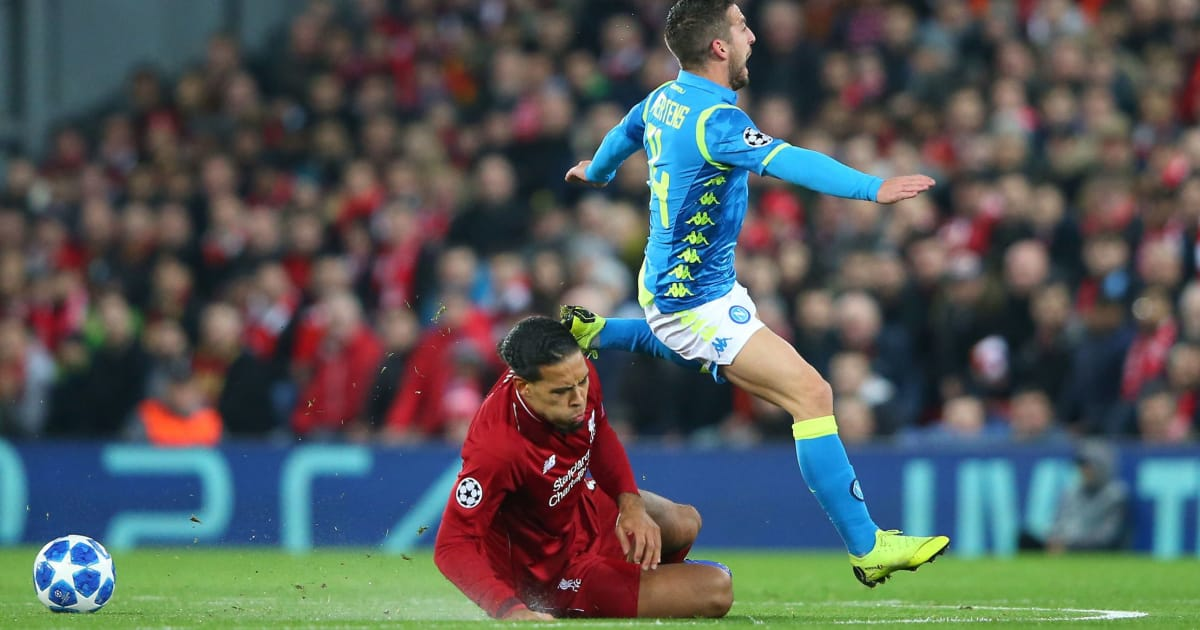 Carlo Ancelotti Calls Out Virgil van Dijk Challenge After Napoli's Defeat to Liverpool