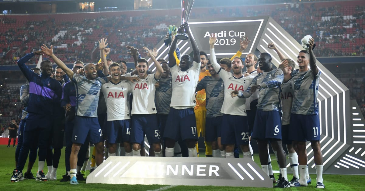 Twitter Reacts As Moussa Sissoko Lifted Audi Cup With The Feel Of A Champions League Trophy Ht Media