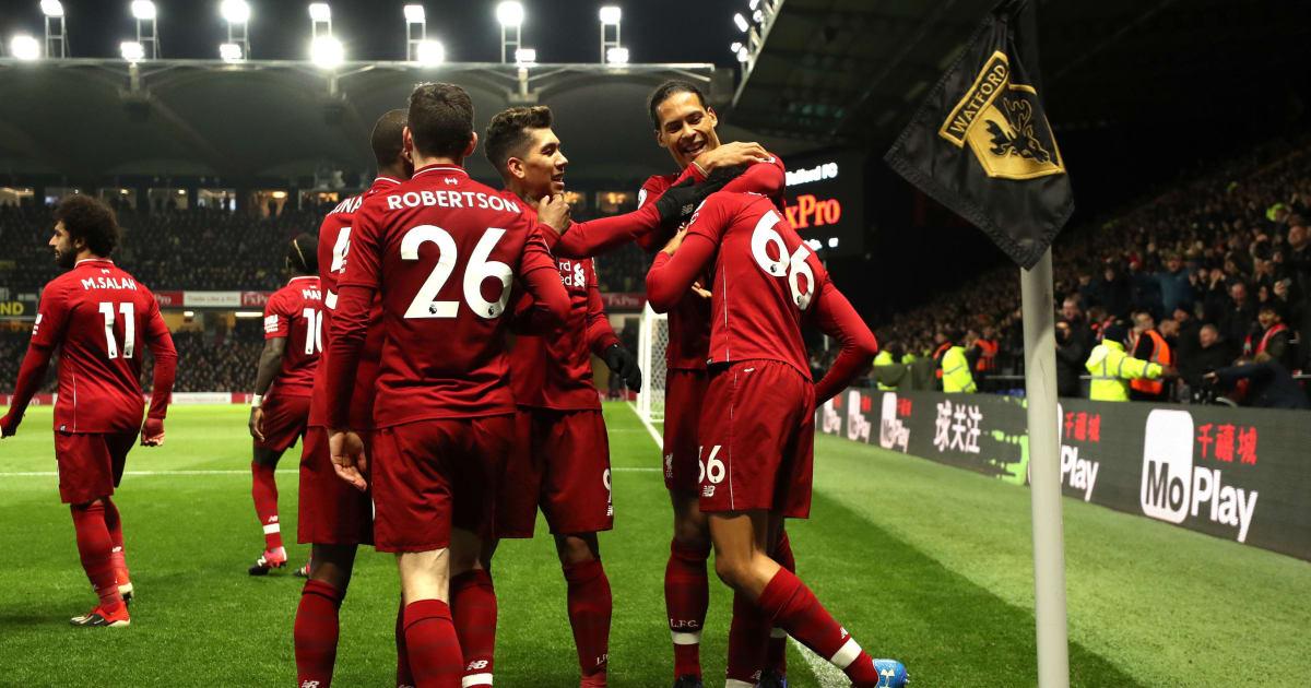 Kalahkan Watford, Liverpool Kokoh di Puncak Liga Inggris