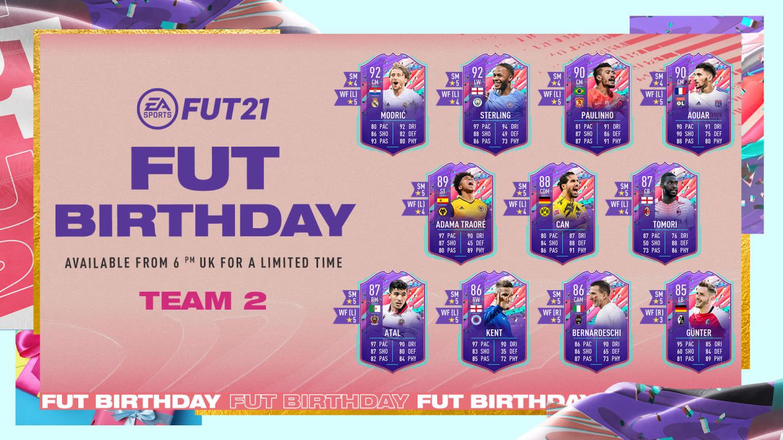 Se revela el cumpleaños del equipo 2 de FIFA Ultimate Team