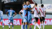 Arsenal v River Plate - Copa De La Liga Profesional 2021 - Arsenal festeja el empate.