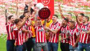 Atletico de Madrid Celebrate Winning La Liga