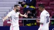 Karim Benzema celebrates his equaliser with Casemiro