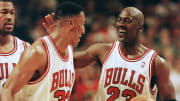 Chicago Bulls legends Michael Jordan and Scottie Pippen