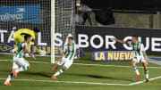 Banfield v Boca Juniors - Copa Diego Maradona 2020 Final - Banfield festeja su gol.