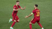 Eden et Thorgan Hazard avec la Belgique.