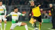 In der vergangenen Saison hatten Laszlo Benes und Ramy Bensebaini mit Gladbach gegen Julian Brandts BVB zwei Mal das Nachsehen