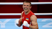 Oleksandr Khyzhniak vs Hebert Conceicao odds, prediction, betting lines, fight info & stream for Olympic men's middleweight gold medal boxing match.