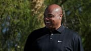Charles Barkley on the golf course.