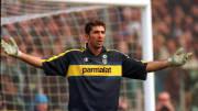 Buffon con la maglia del Parma