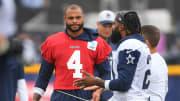 Dak Prescott and Ezekiel Elliott at Cowboys training camp.