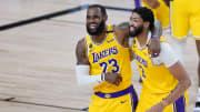 LeBron James and Anthony Davis, Denver Nuggets v Los Angeles Lakers