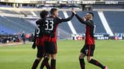 Reicht es für den ganz großen Wurf? Andre Silva und Filip Kostic wollen den Traum von der Champions League Wirklichkeit werden lassen.