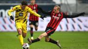 Sebastian Rode (r.) mit Eintracht Frankfurt und Giovanni Reyna mit dem BVB streiten um die Champions League.