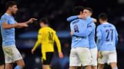 Manchester City sicherte sich erst spät den Sieg gegen Dortmund