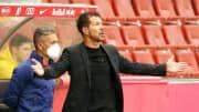 Simeone en el primer amistoso de la temporada