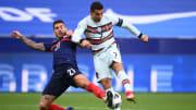 Un match serré entre la France et le Portugal
